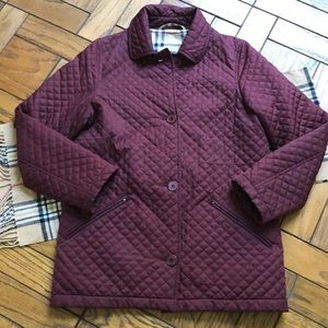 Burberry Burgundy Diamond Quilted Jacket